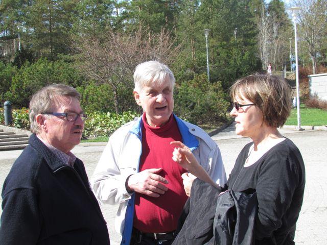 Aarno Turunen, Jorma Sinisalo ja  Eeva Männistö.