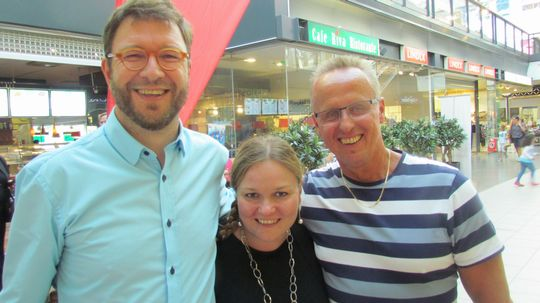 Timo Harakka, Krista Kiuru ja Markku Sistonen.