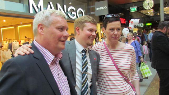 Antti, Jussi ja Maarit.