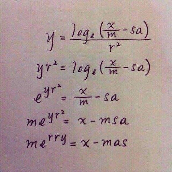 Joulumatematiikkaa.
